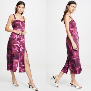 NWT Cinq à Sept Tie Dye Alexa Midi Dress